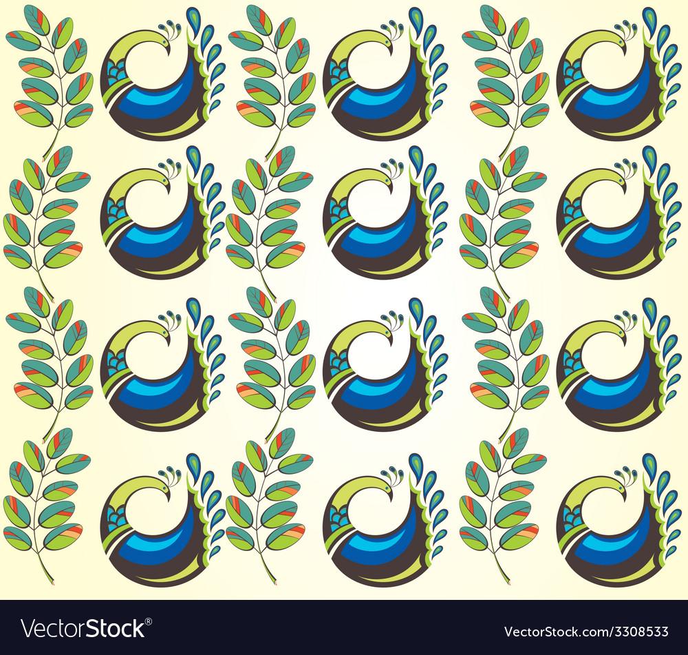 Peacocks vector | Price: 1 Credit (USD $1)