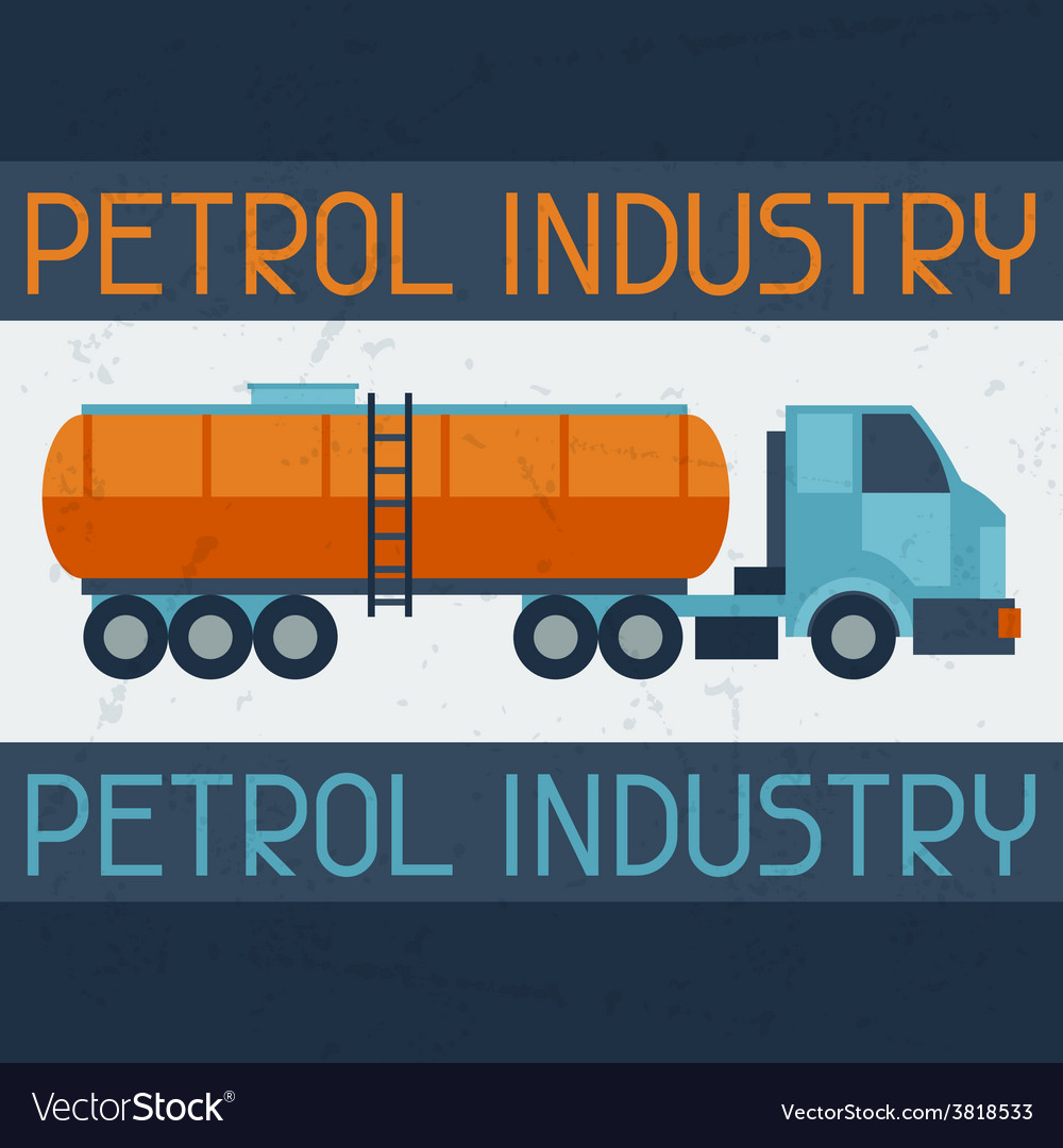 Petrol truck background vector | Price: 1 Credit (USD $1)