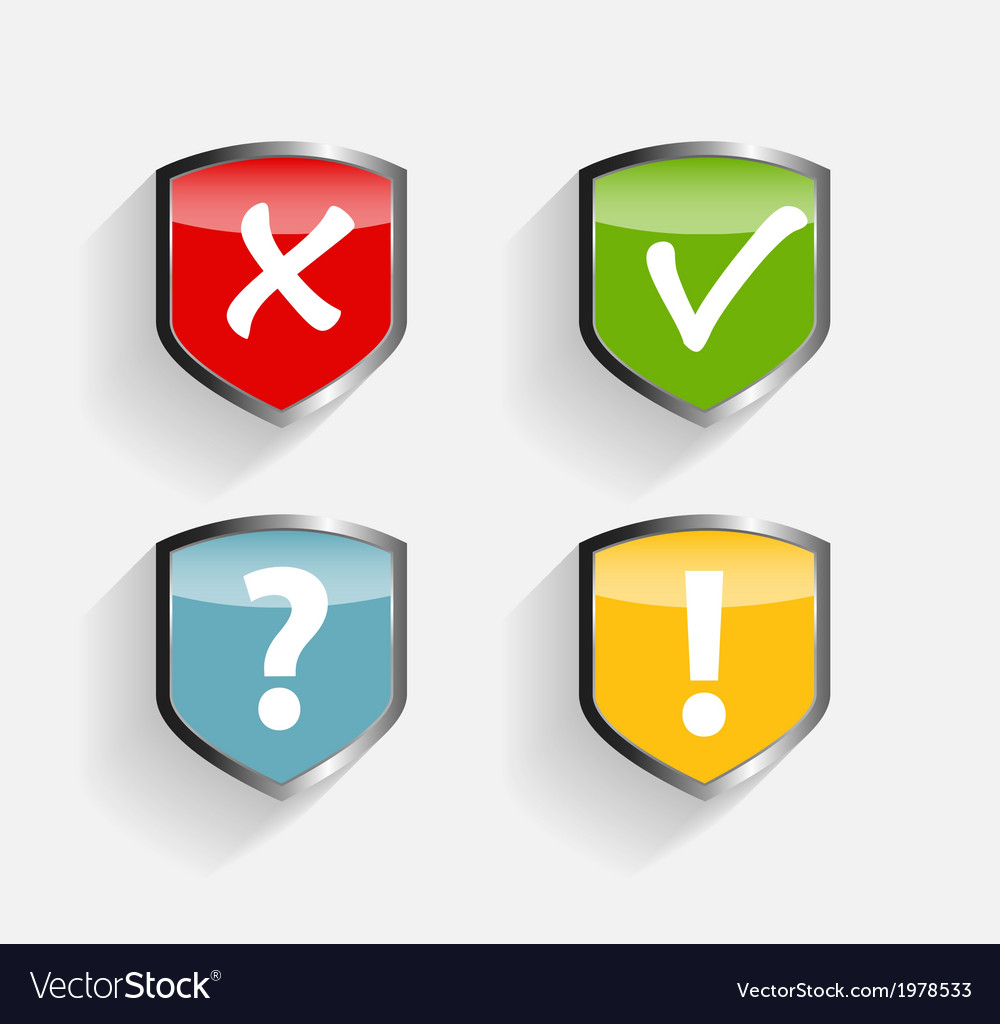 Protect shield set vector | Price: 1 Credit (USD $1)