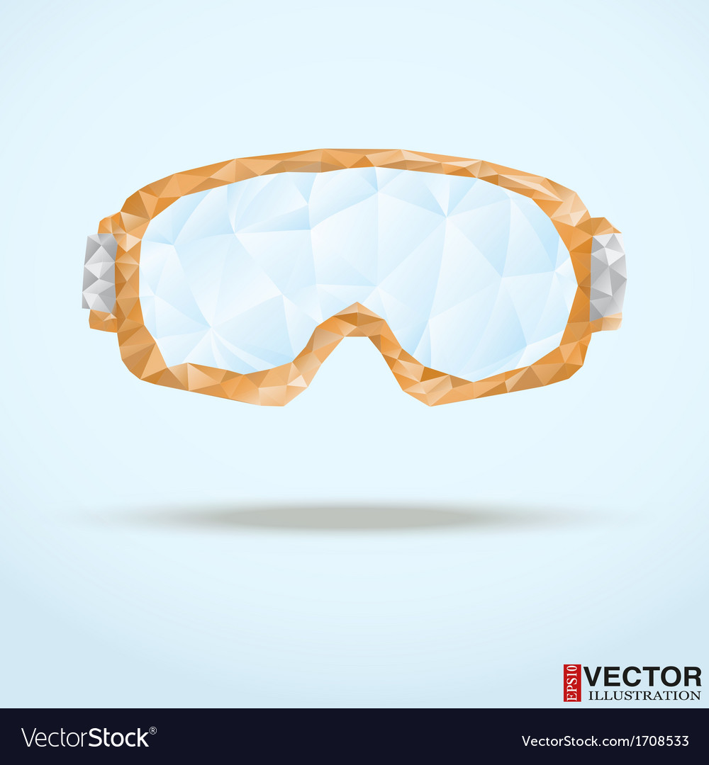Ski goggles with reflection of mountains vector | Price: 1 Credit (USD $1)