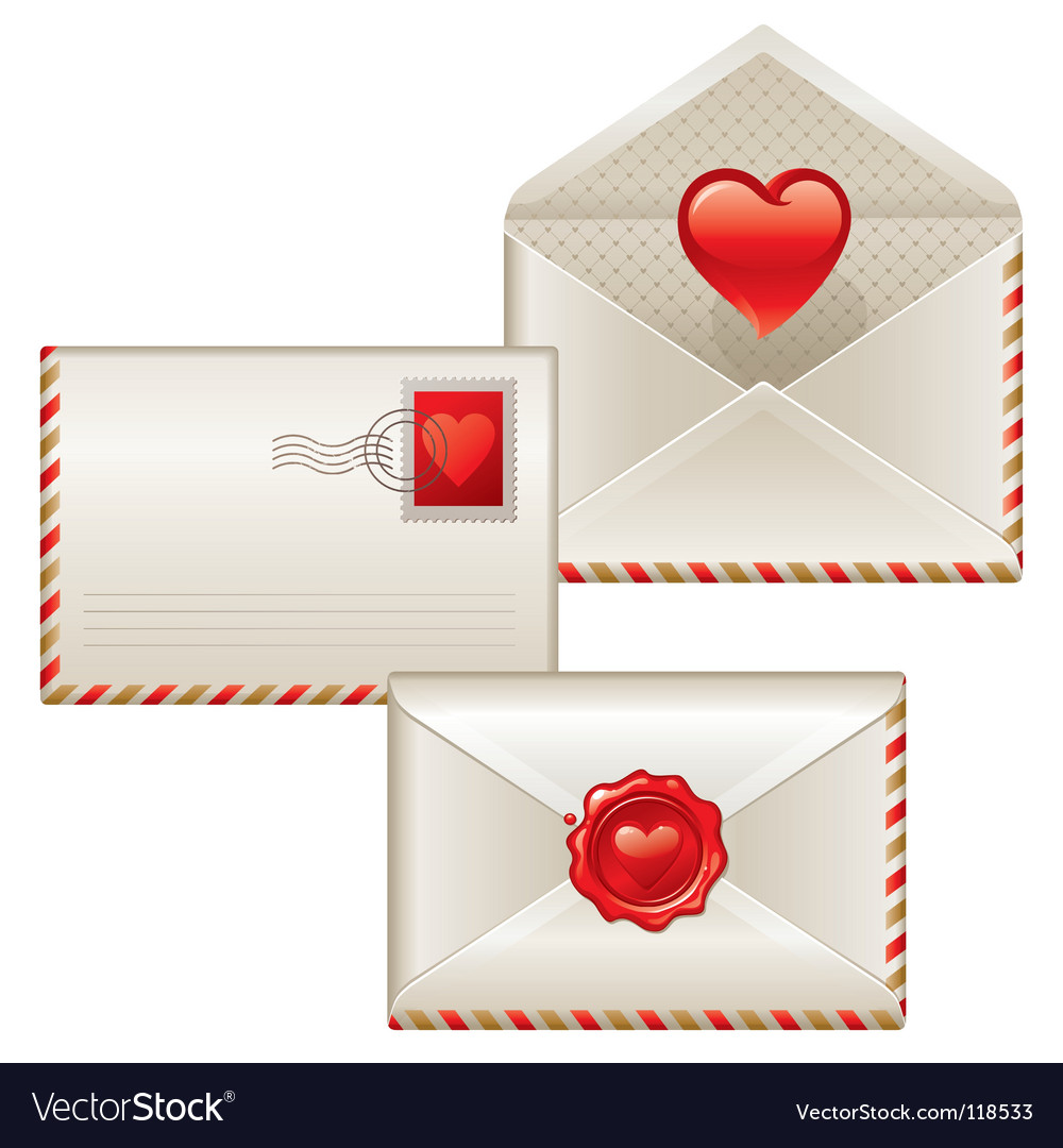 Three love letters vector | Price: 1 Credit (USD $1)