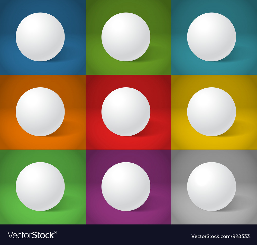 White sphere collection vector | Price: 1 Credit (USD $1)