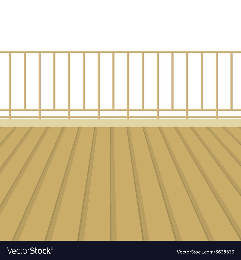 Wooden balcony with wooden floor vector | Price: 1 Credit (USD $1)