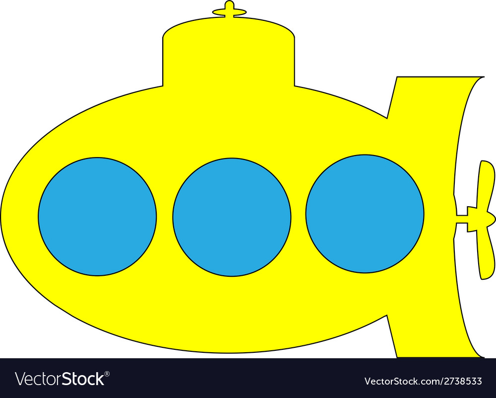 Yellow submarine icon vector | Price: 1 Credit (USD $1)