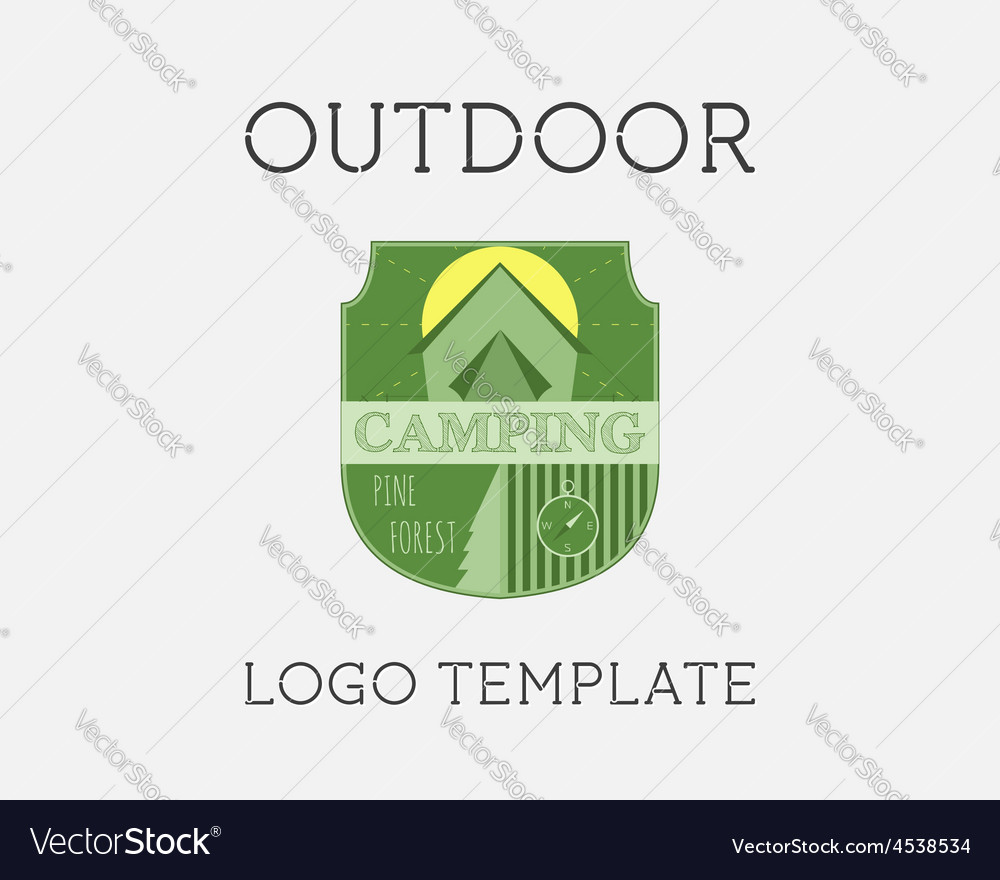 Adventure outdoor tourism travel logo template vector | Price: 1 Credit (USD $1)