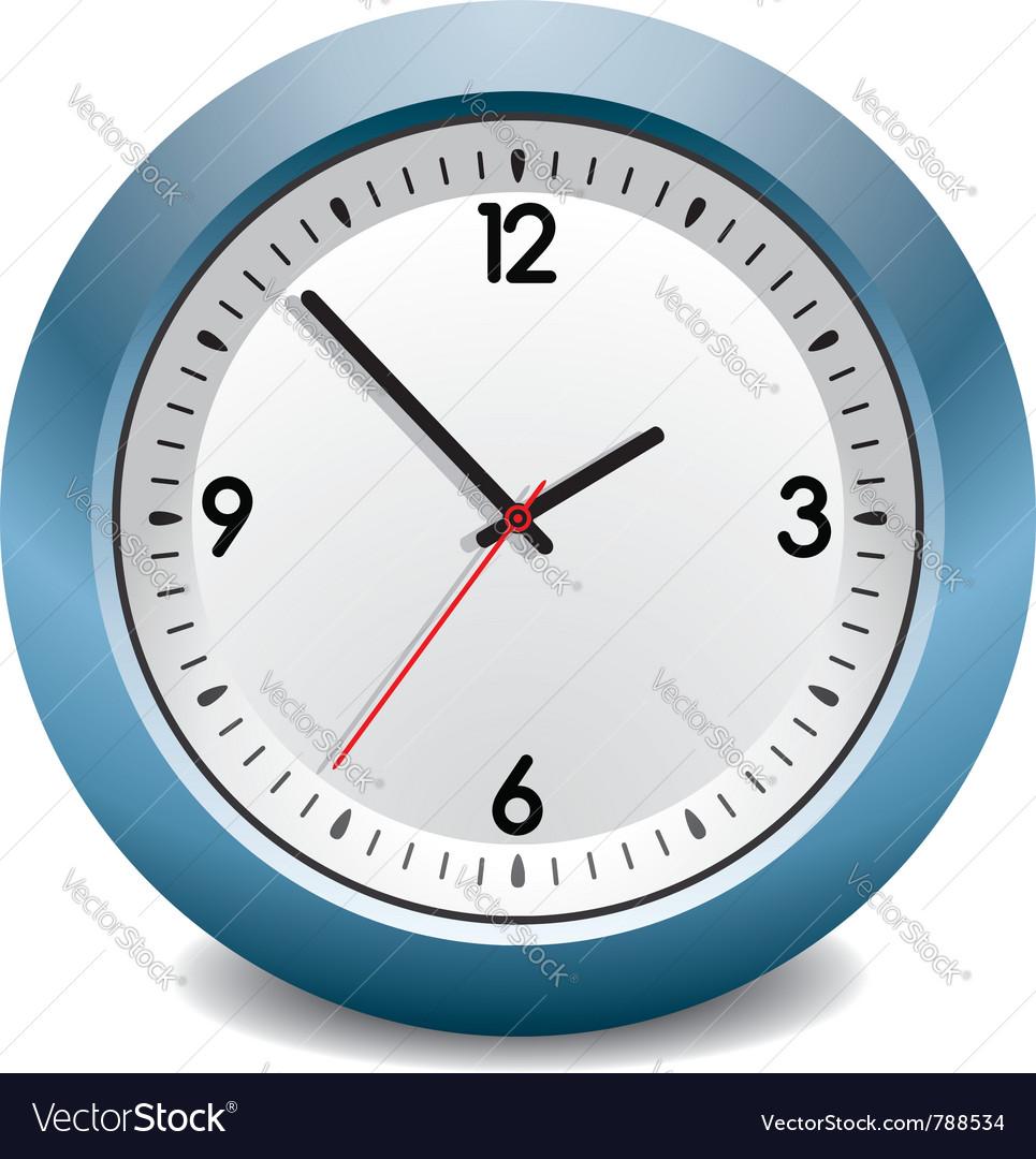 Blue clock vector | Price: 1 Credit (USD $1)