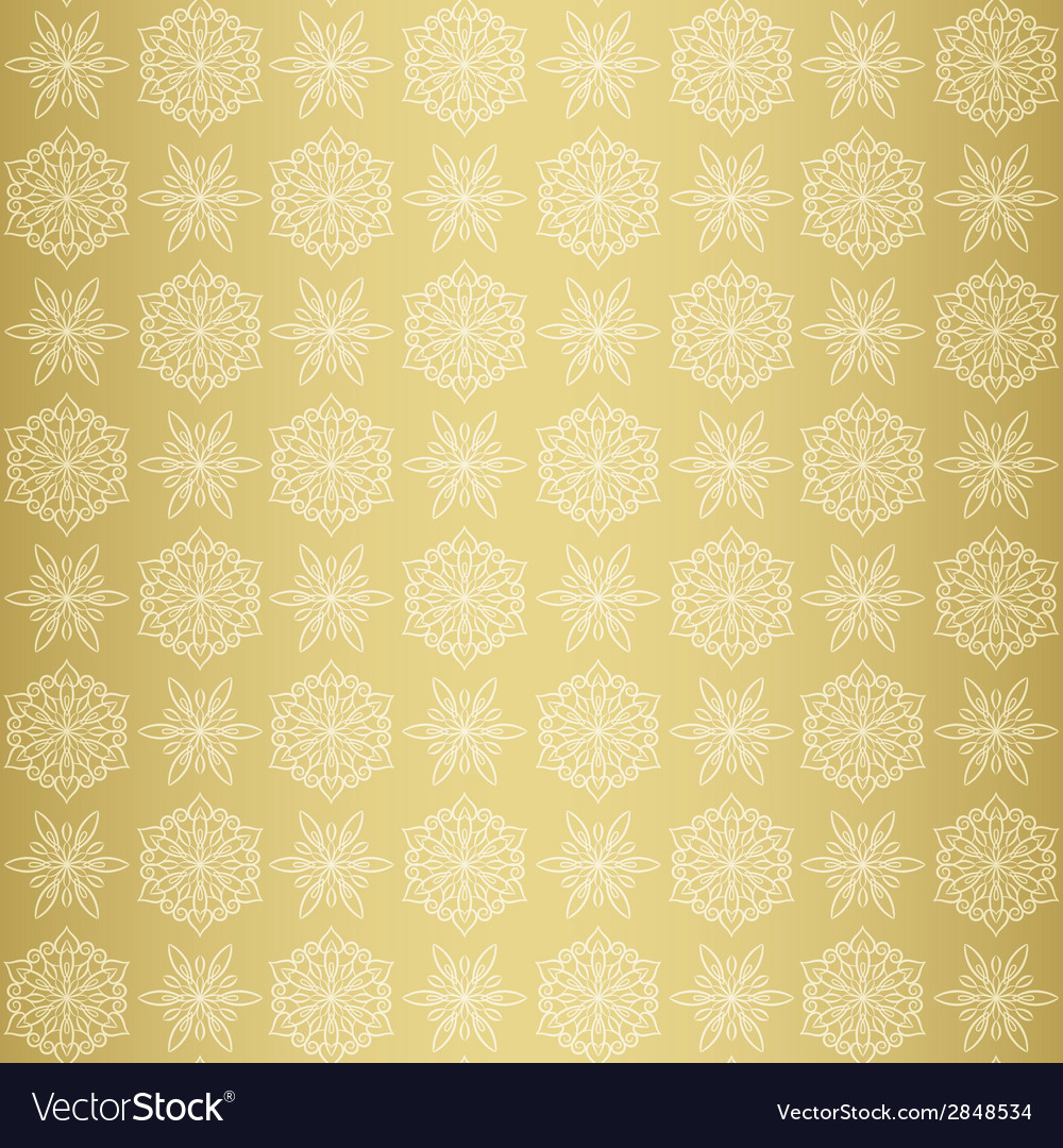 Christmas seamless pattern with snowflake gold vector | Price: 1 Credit (USD $1)