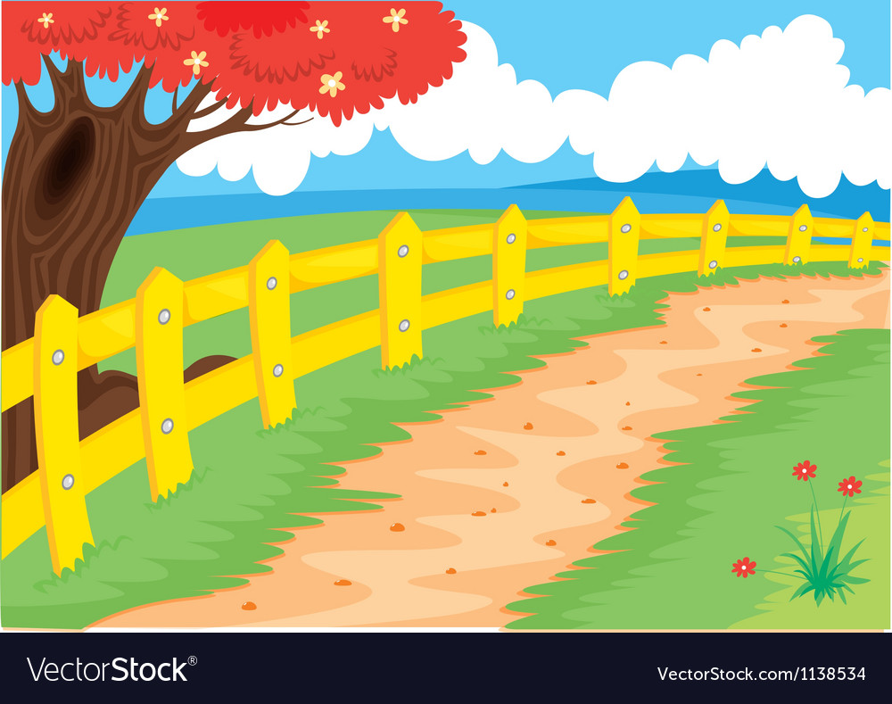 Countryside path vector | Price: 1 Credit (USD $1)