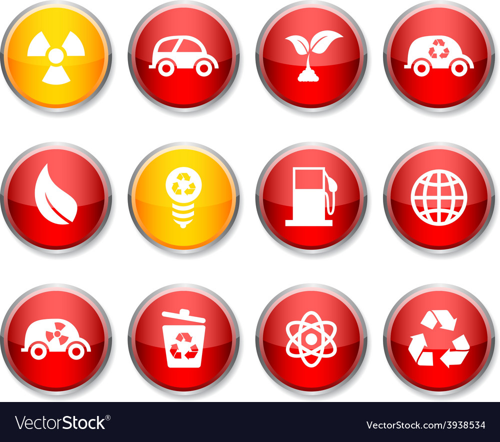 Ecology round icons vector | Price: 1 Credit (USD $1)