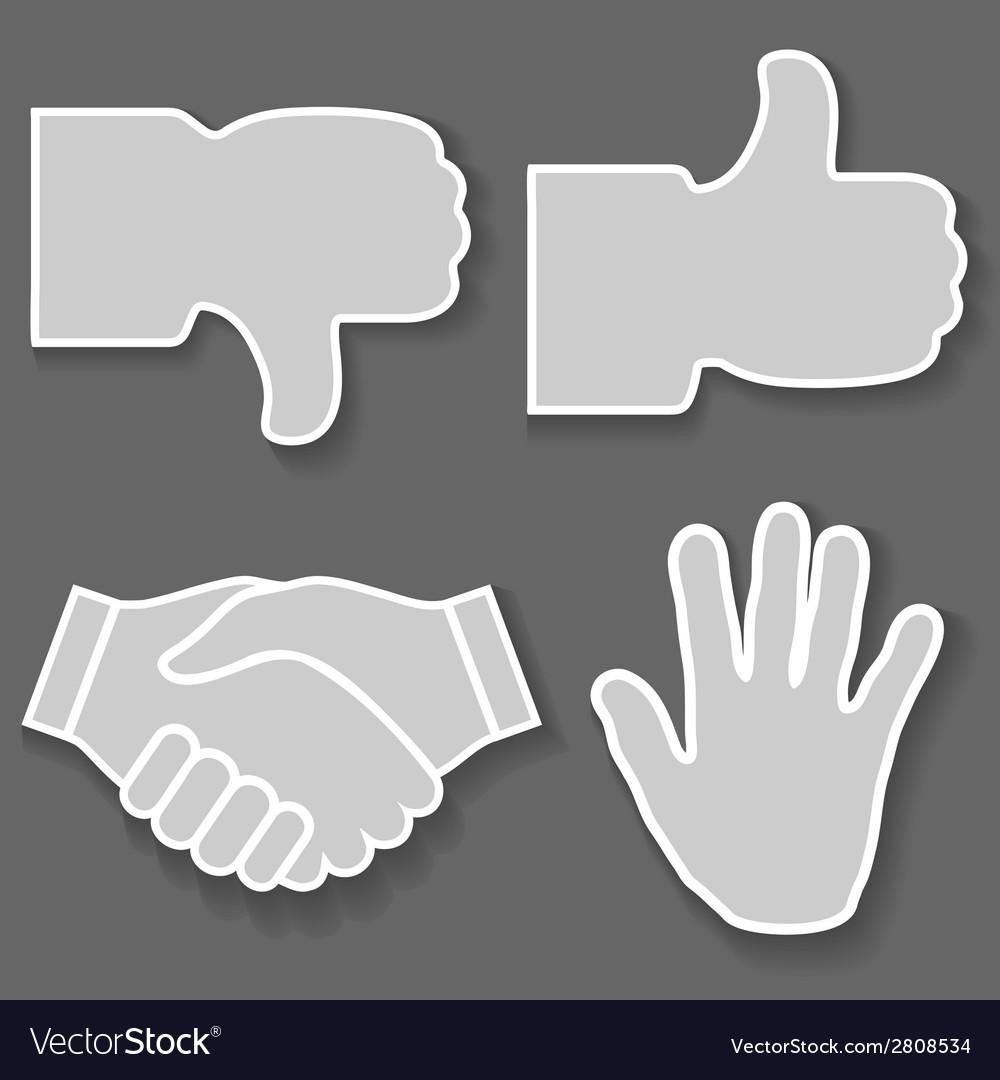 Hand icon vector | Price: 1 Credit (USD $1)