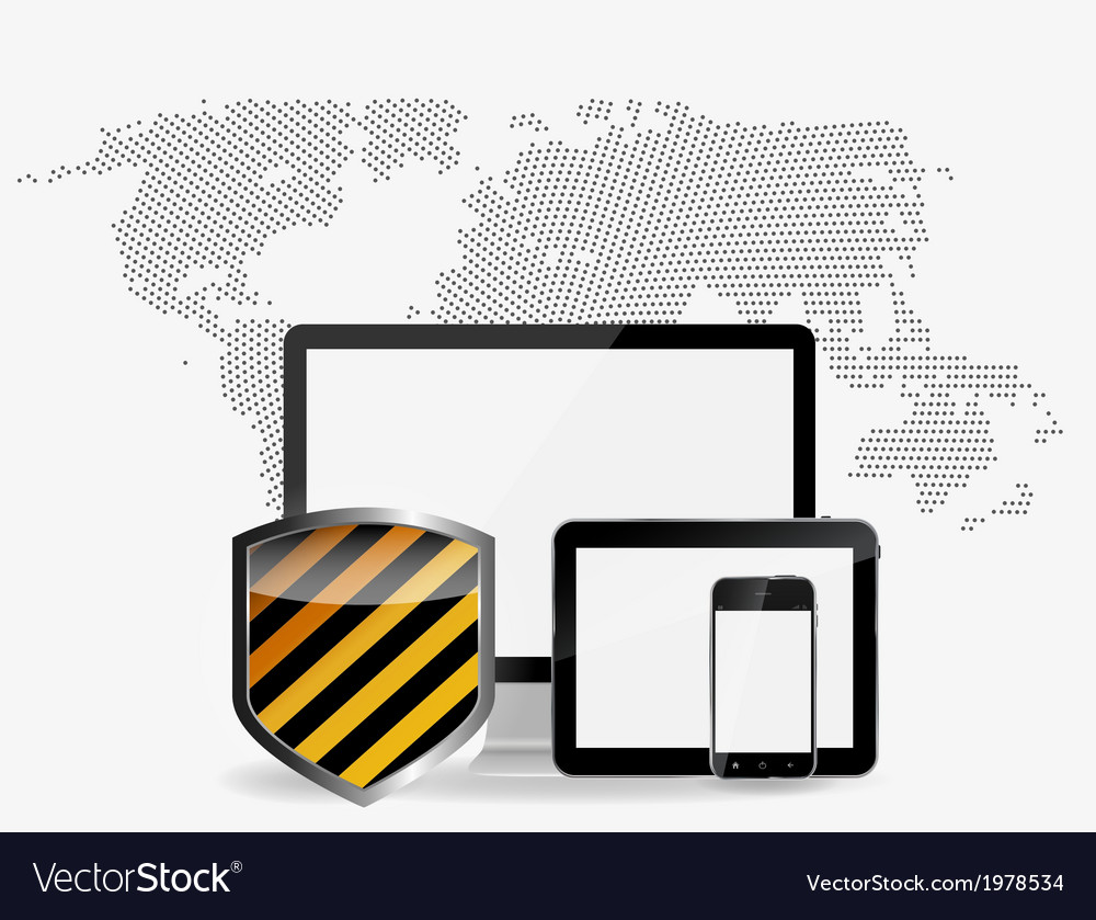 Internet security icon vector | Price: 1 Credit (USD $1)