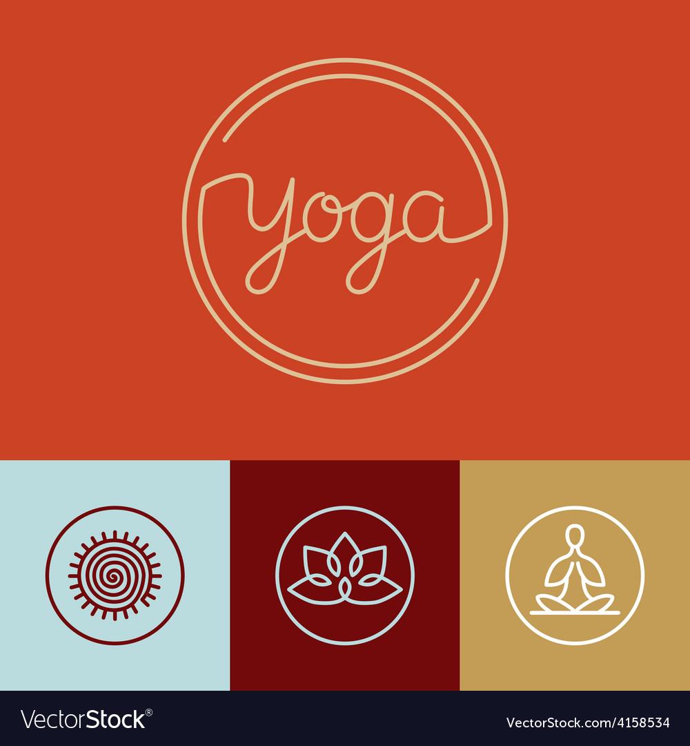 Linear yoga logo vector | Price: 1 Credit (USD $1)