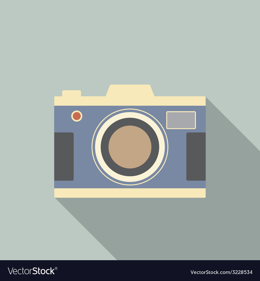 Modern design vintage camera vector   Price: 1 Credit (USD $1)