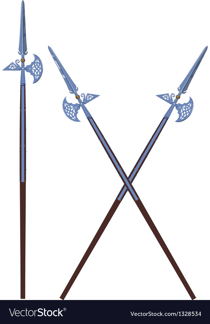 Ornate halberds vector | Price: 1 Credit (USD $1)