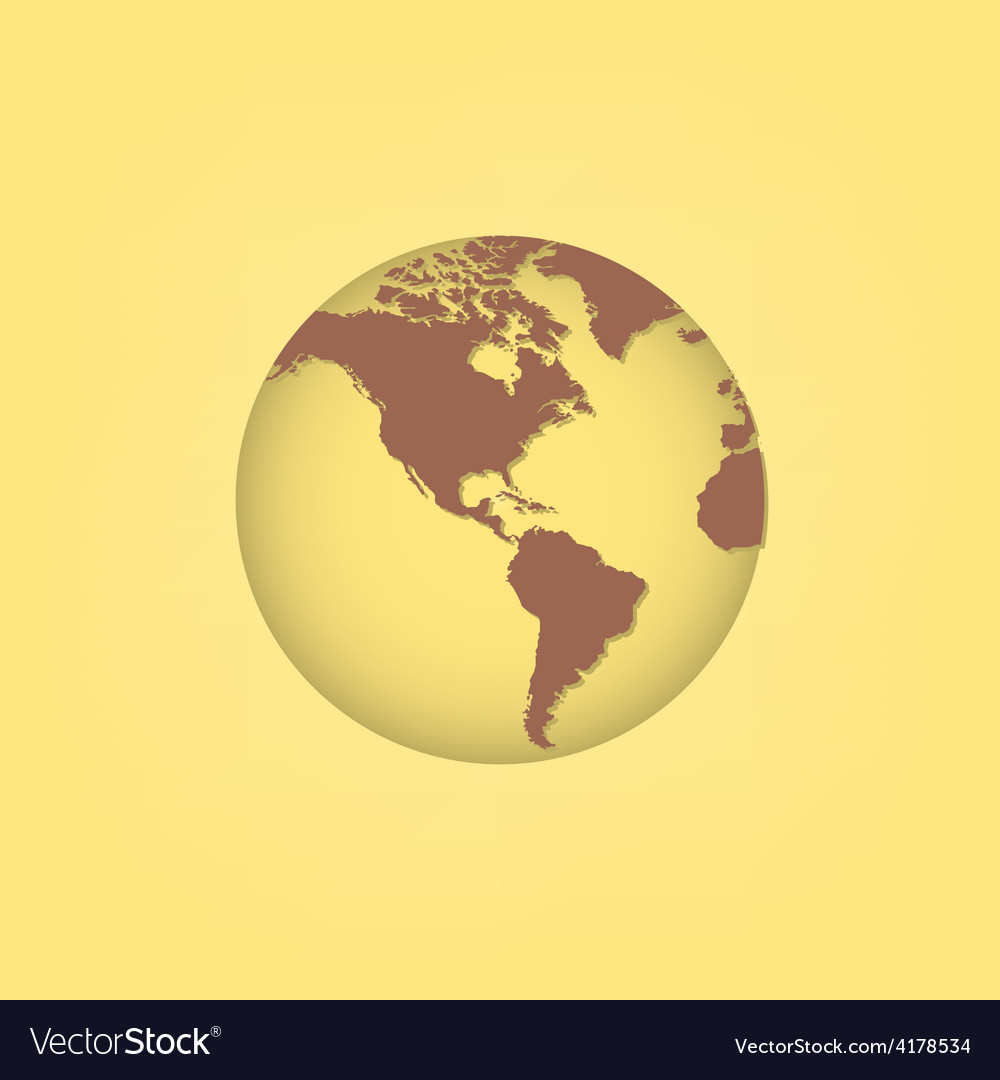 World map and compass vector | Price: 1 Credit (USD $1)