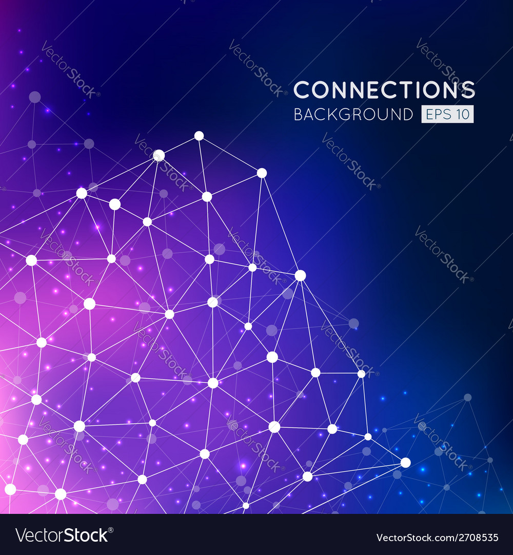 Abstract connection points background vector | Price: 1 Credit (USD $1)