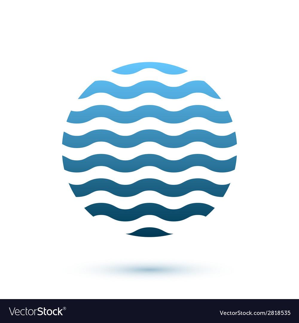 Abstract wavy round conceptual icon sphere vector | Price: 1 Credit (USD $1)