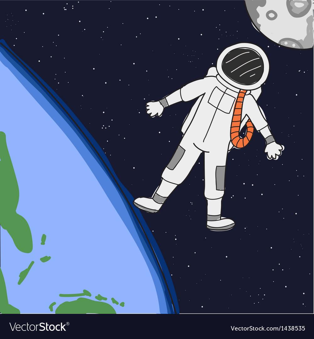 Astronaut vector | Price: 1 Credit (USD $1)