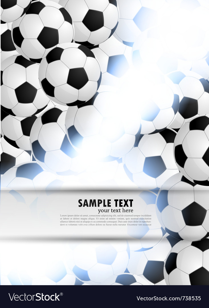 Background with soccer ball vector | Price: 1 Credit (USD $1)