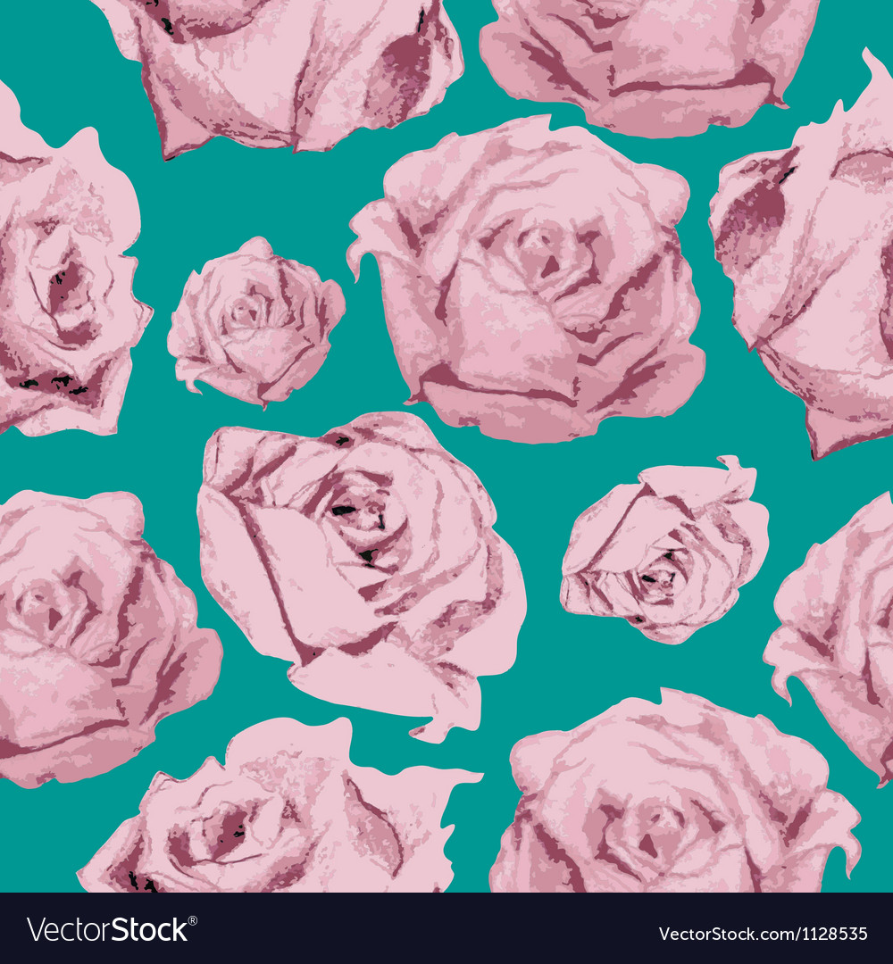 Color rose pattern vector | Price: 1 Credit (USD $1)
