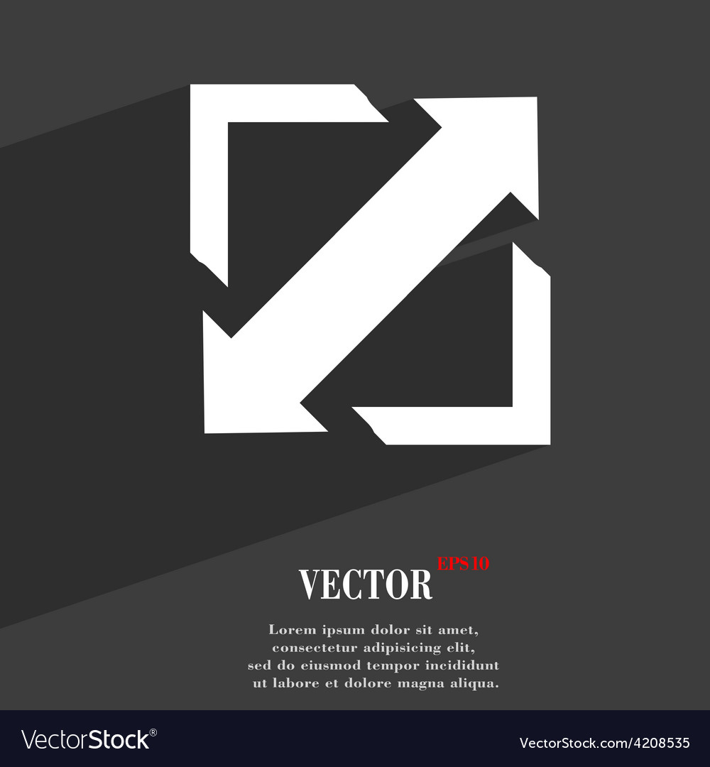 Deploying video screen size icon symbol flat vector | Price: 1 Credit (USD $1)
