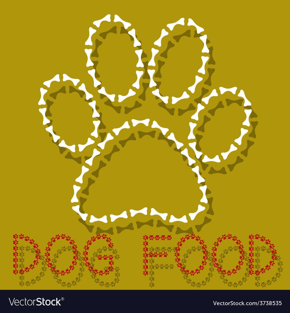 Dog food vector | Price: 1 Credit (USD $1)