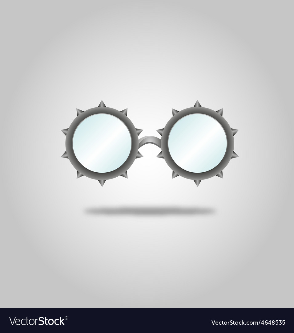 Glasses specs goggles shades weird steampunk vector | Price: 1 Credit (USD $1)
