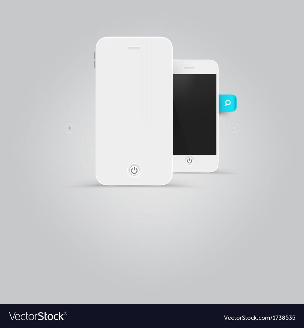 Smart phone design vector | Price: 1 Credit (USD $1)