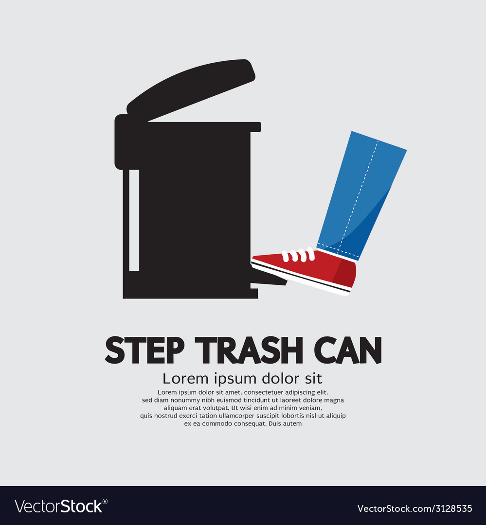 Step trash can vector | Price: 1 Credit (USD $1)