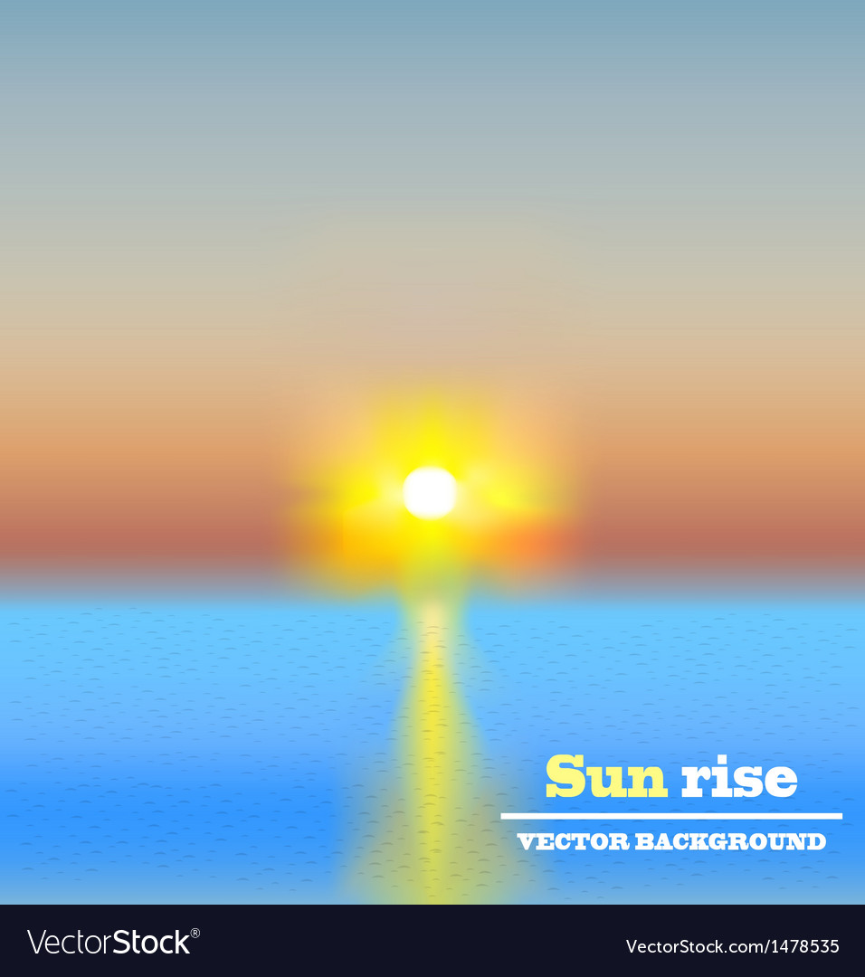 Sun rise background vector | Price: 3 Credit (USD $3)