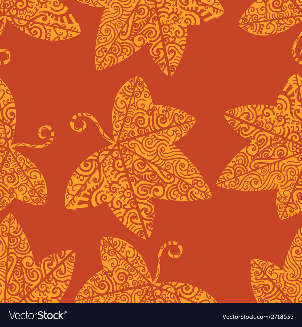 Tribal tattoo pattern ivy leaf vector | Price: 1 Credit (USD $1)