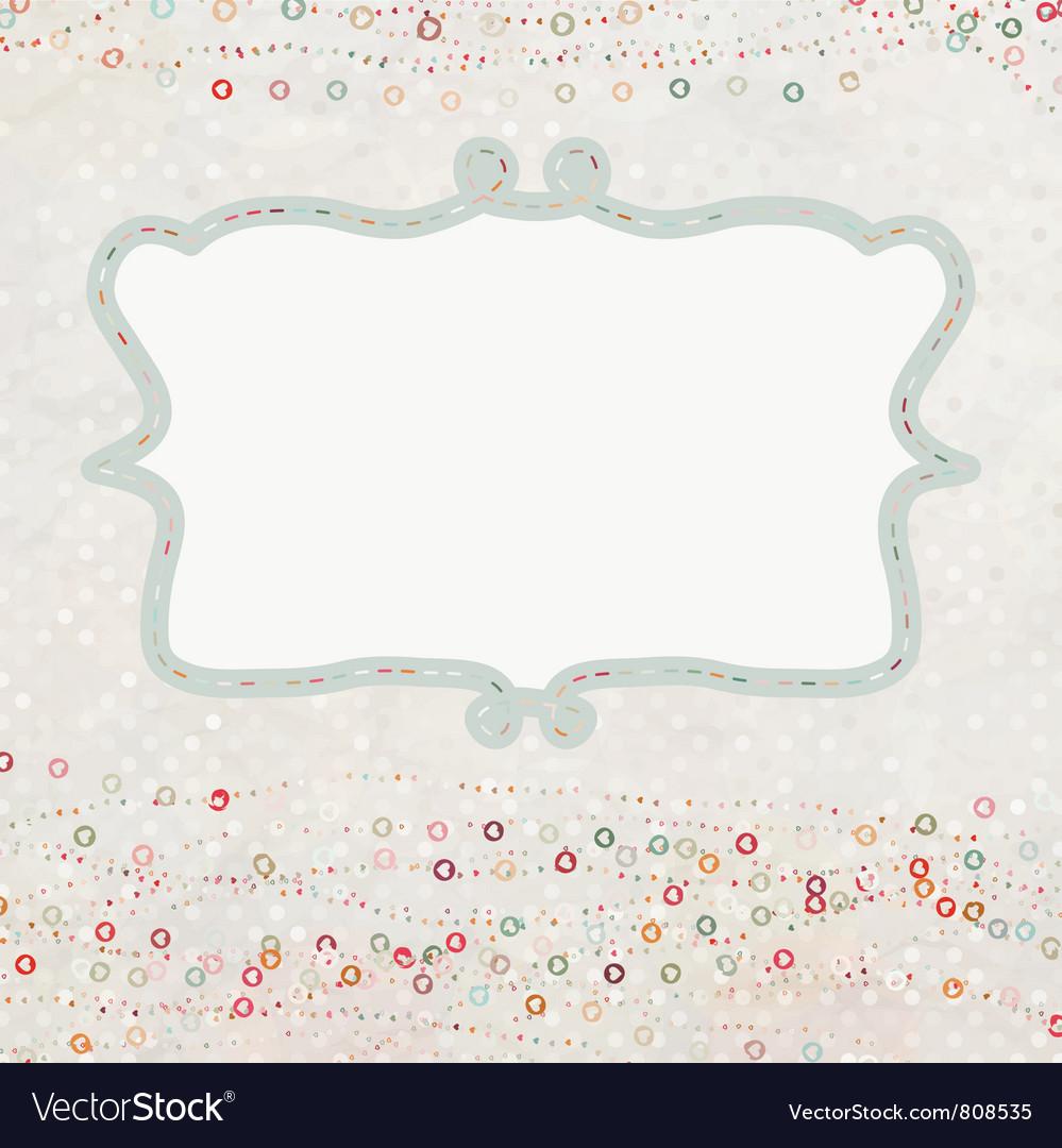 Valentine hearts card vector | Price: 1 Credit (USD $1)