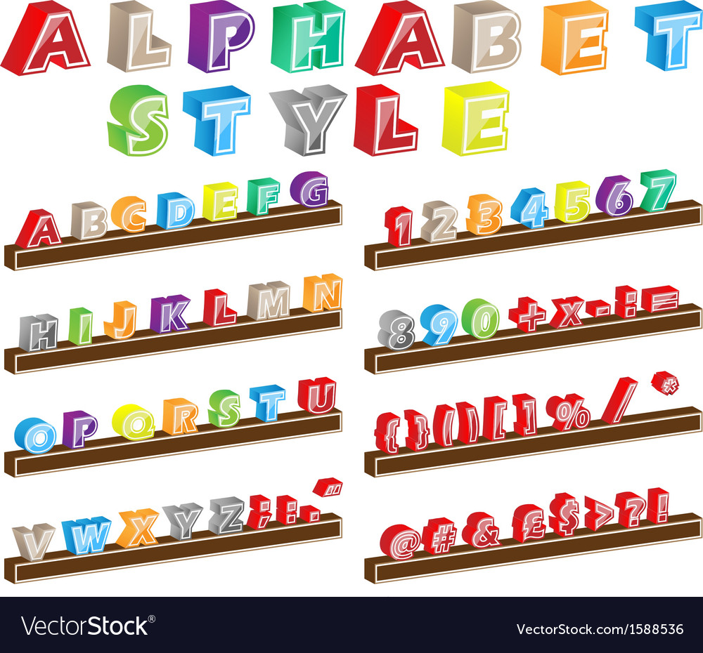 Alphabet style vector | Price: 1 Credit (USD $1)