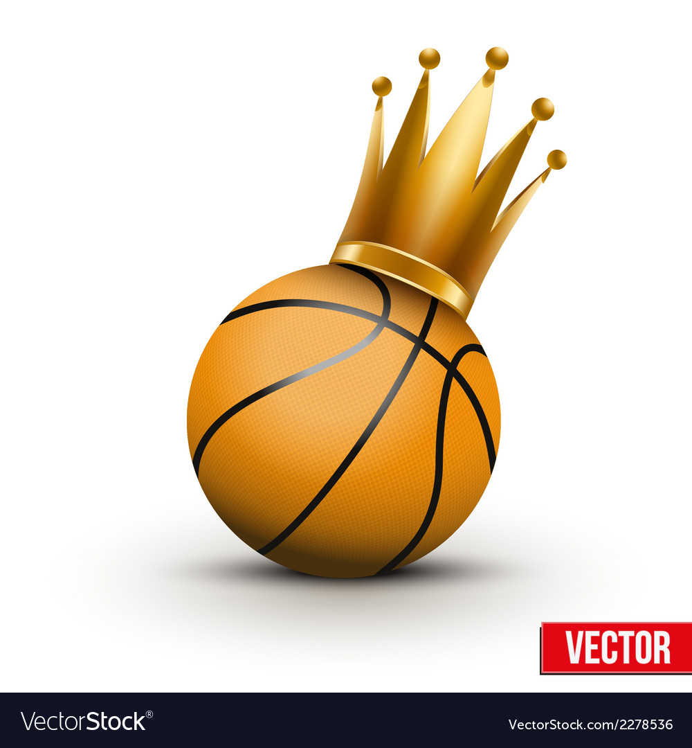 Basketball ball with royal crown of princess vector | Price: 1 Credit (USD $1)