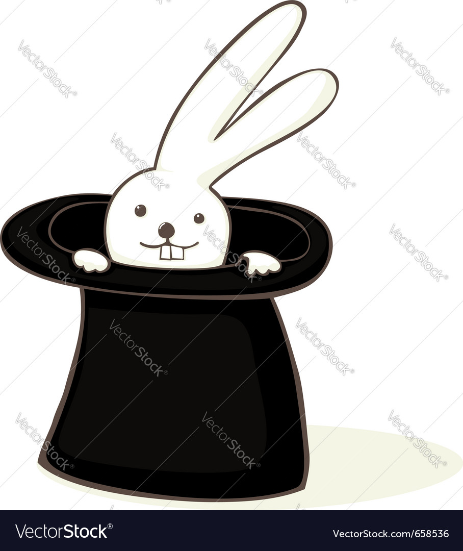 Bunny in a hat vector | Price: 1 Credit (USD $1)
