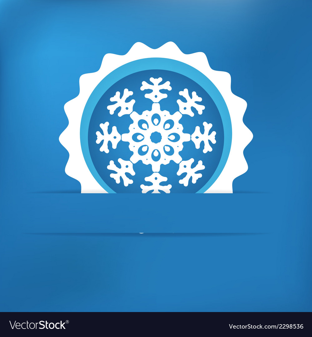 Christmas snowflake applique  eps8 vector | Price: 1 Credit (USD $1)