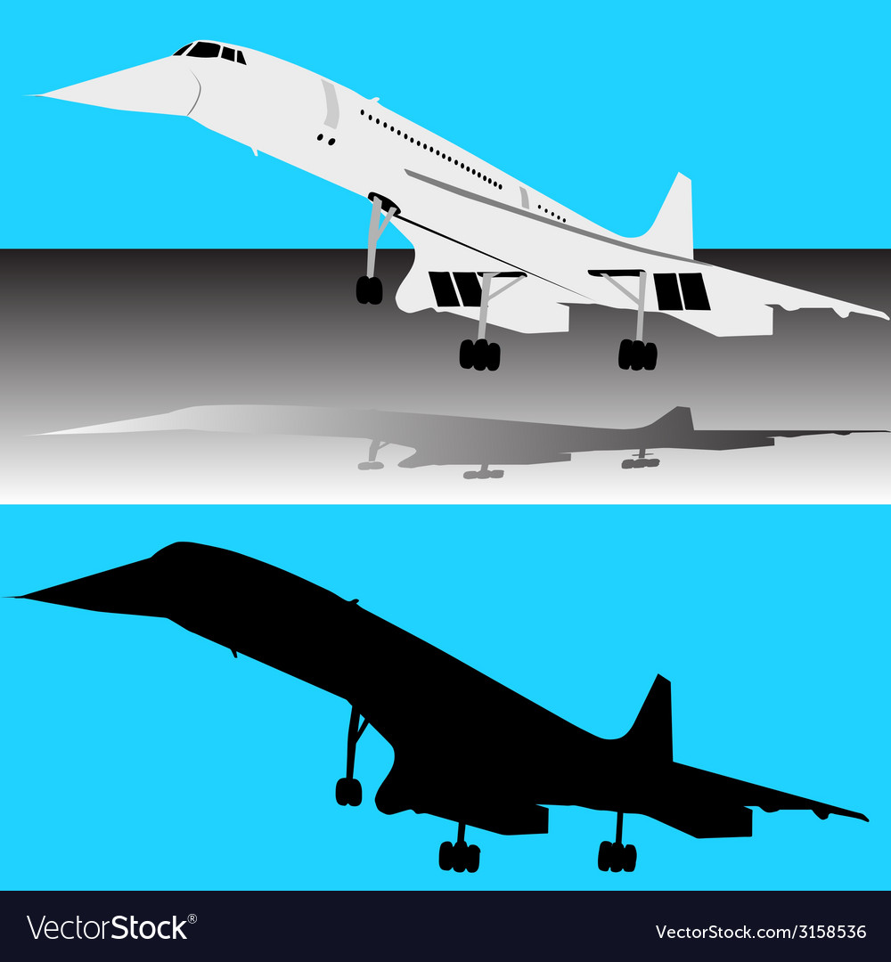 Concorde plane vector | Price: 1 Credit (USD $1)