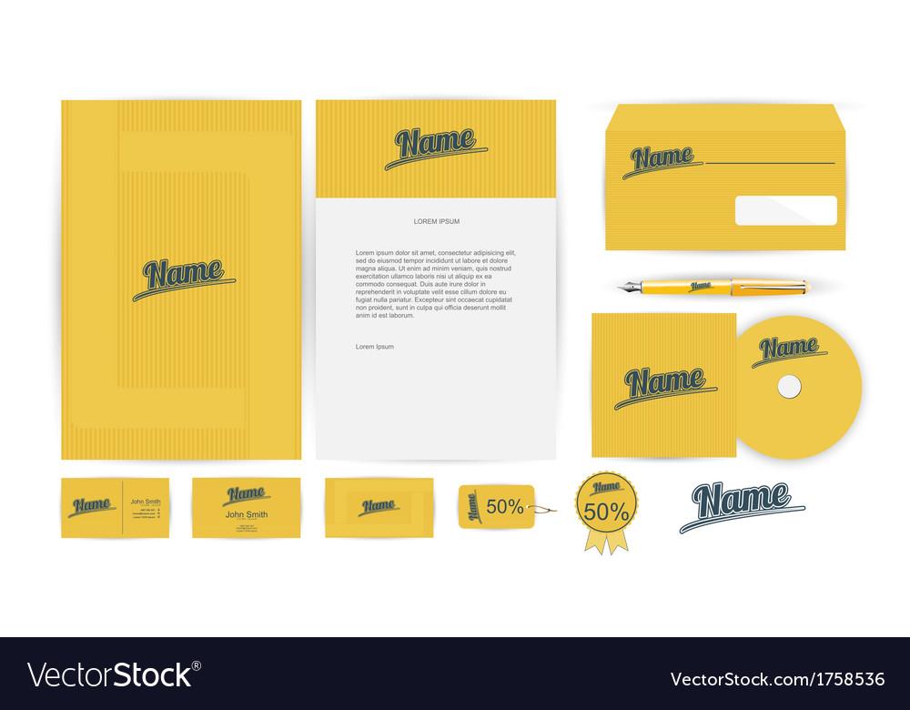 Corporate identity templates in vector | Price: 1 Credit (USD $1)