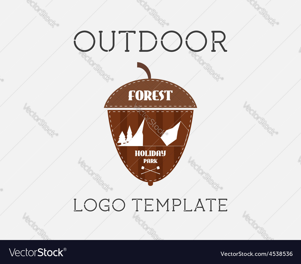 Mountain campsite campground outdoor adventure and vector | Price: 1 Credit (USD $1)