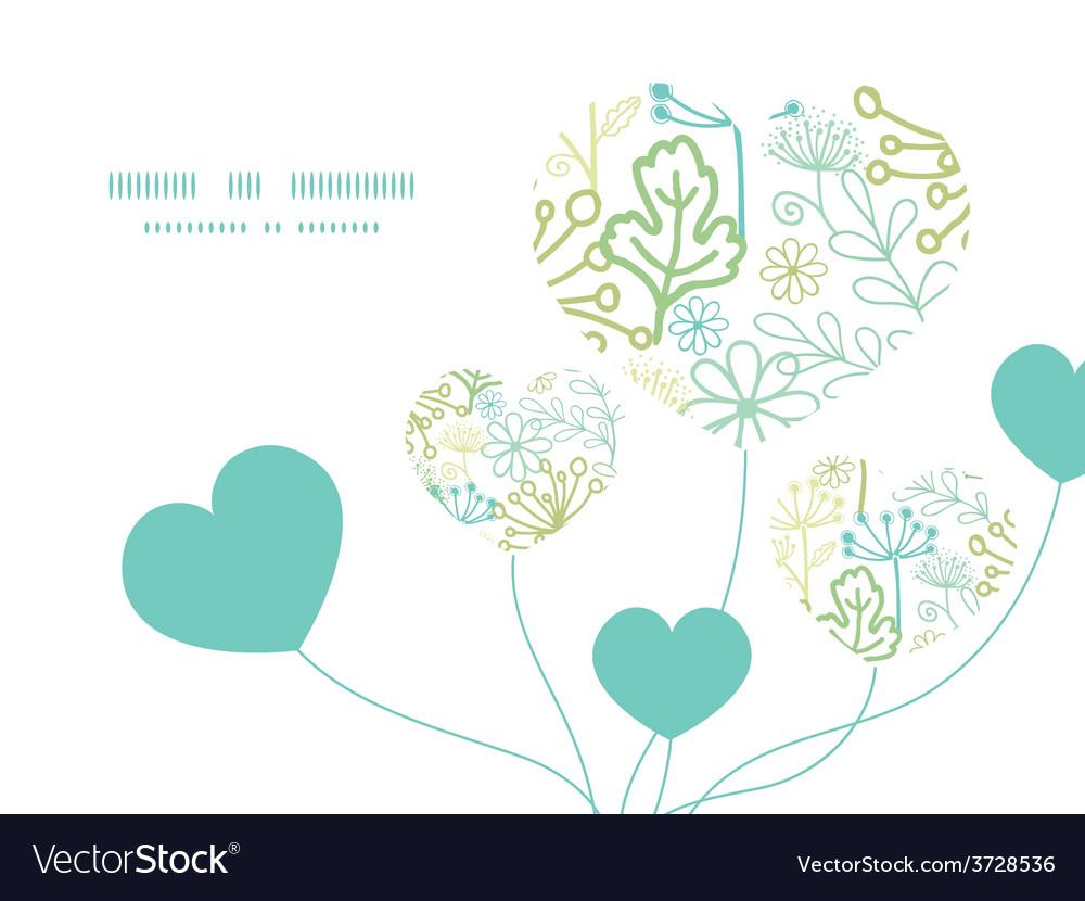 Mysterious green garden heart symbol frame vector   Price: 1 Credit (USD $1)