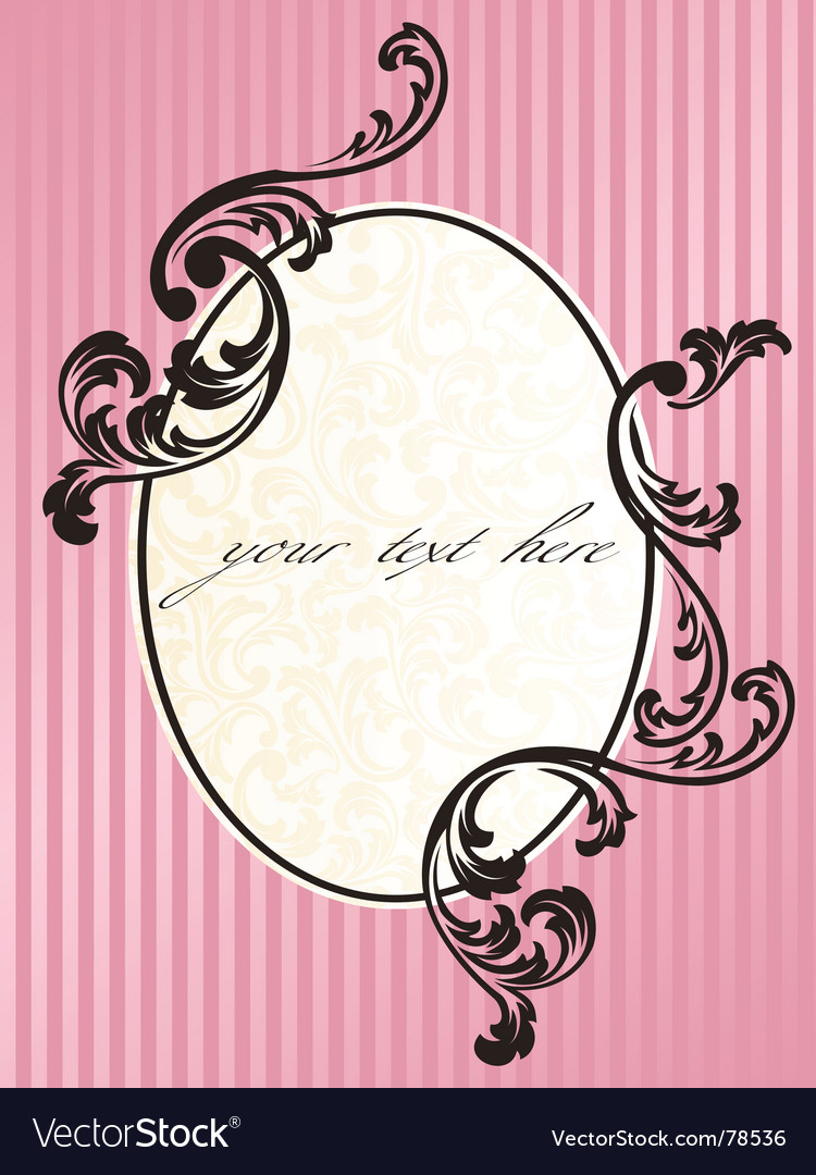 Romantic french frame vector | Price: 1 Credit (USD $1)