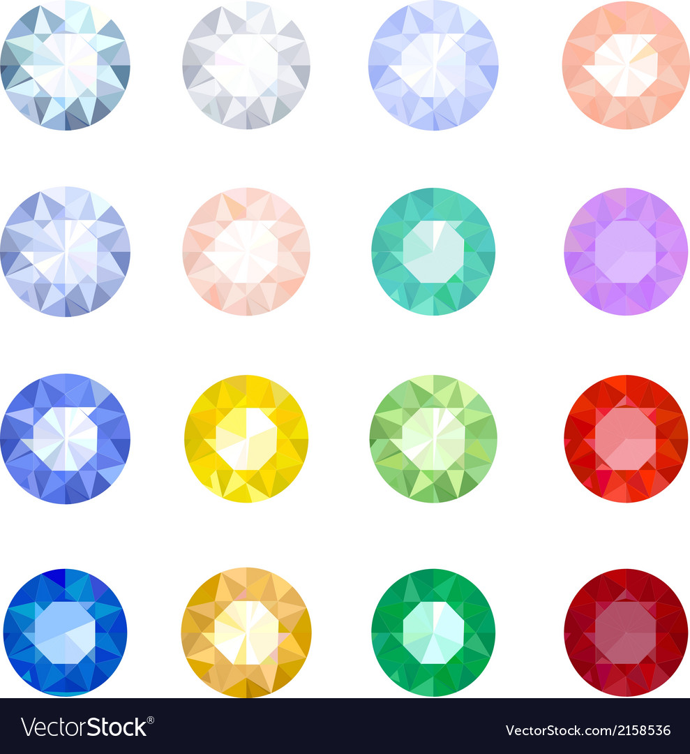 Set gemstones vector | Price: 1 Credit (USD $1)