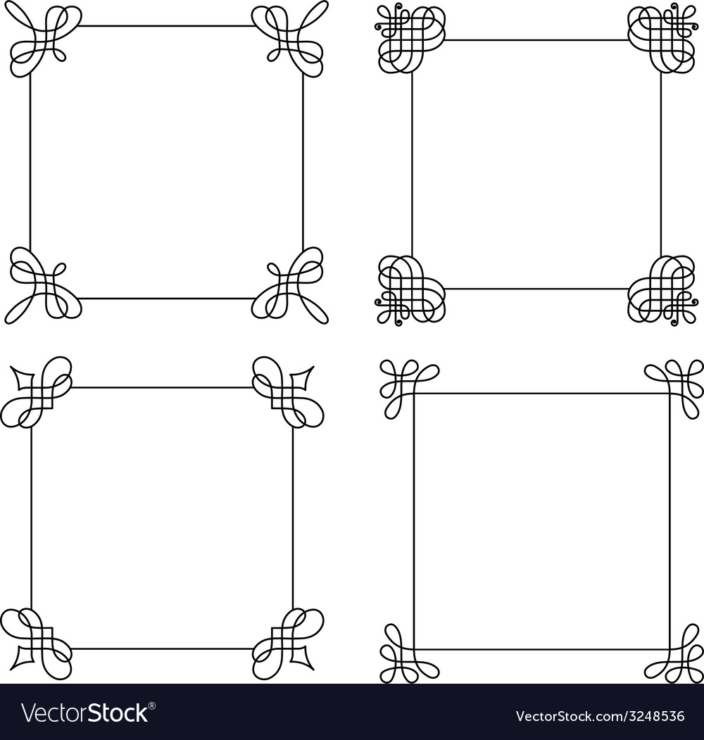 Set of calligraphic frames vector | Price: 1 Credit (USD $1)