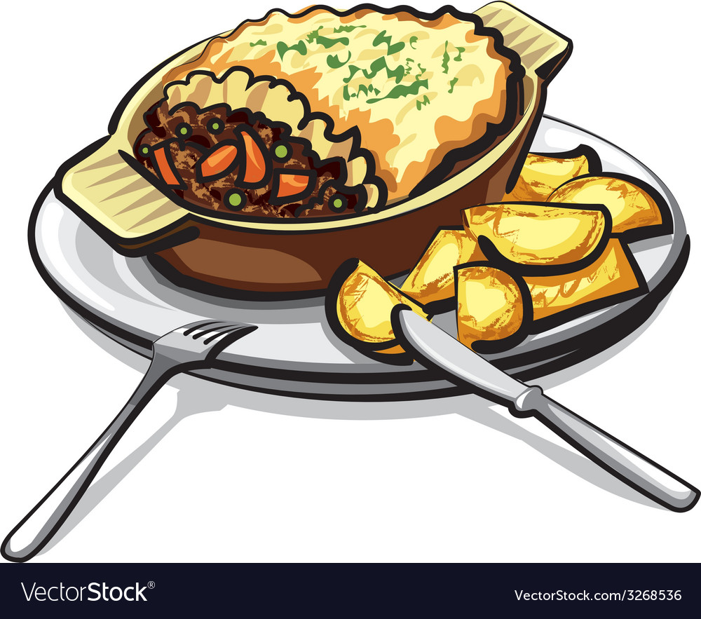 Sheppards pie vector | Price: 3 Credit (USD $3)