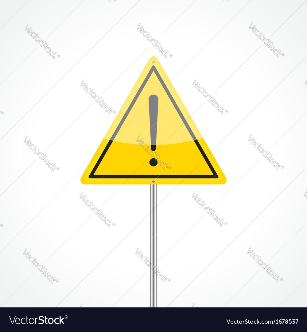 Caution traffic sign vector | Price: 1 Credit (USD $1)