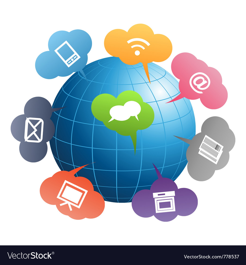 Communication globe vector | Price: 1 Credit (USD $1)