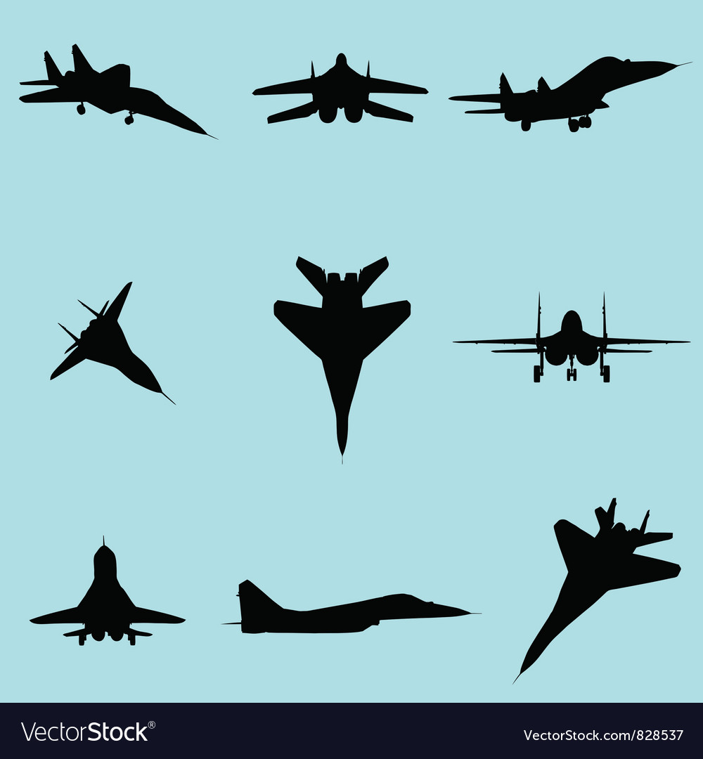 Fighter plane vector | Price: 1 Credit (USD $1)
