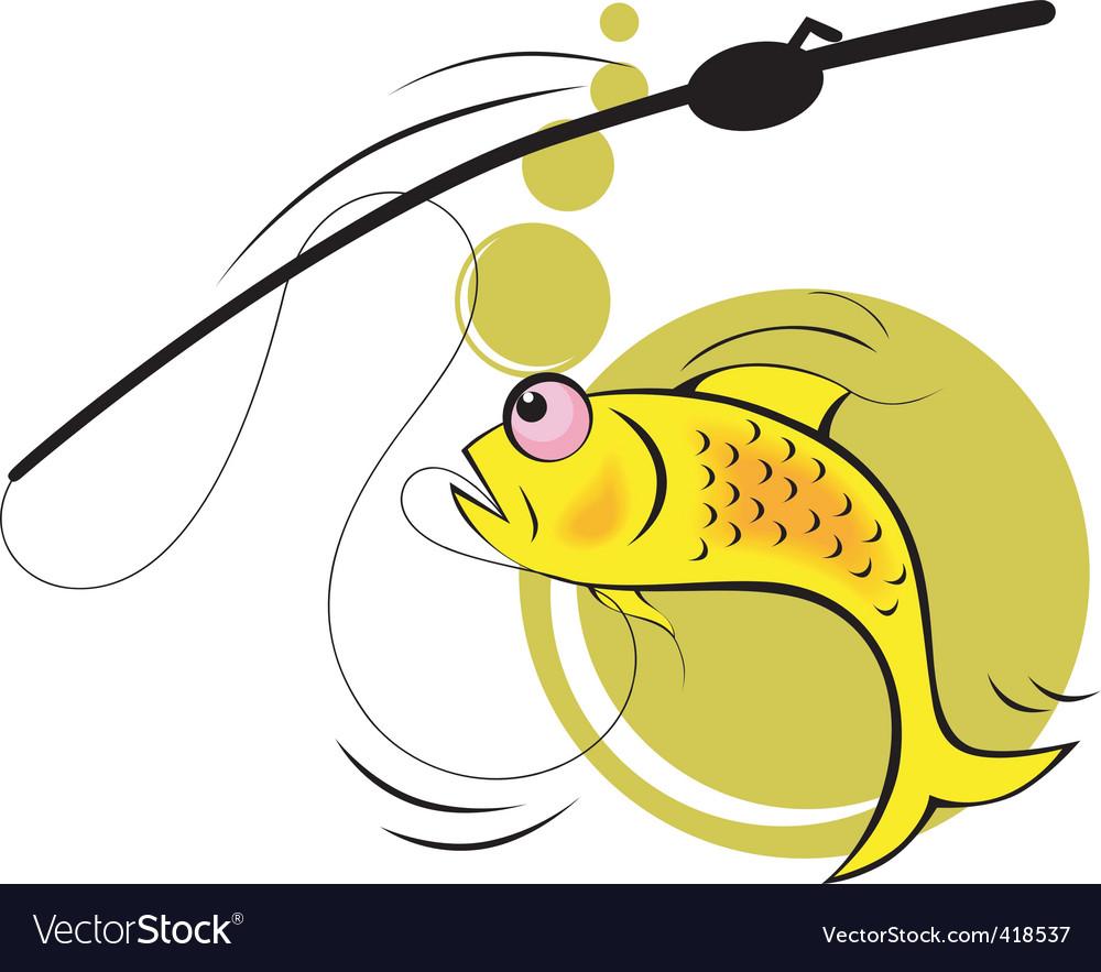 Fish hunting vector | Price: 1 Credit (USD $1)