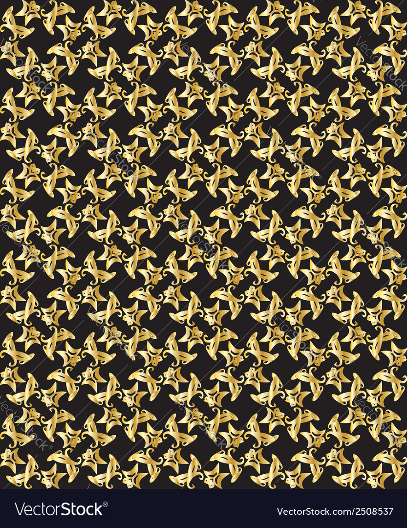 Gold pattern on black background 3 vector | Price: 1 Credit (USD $1)