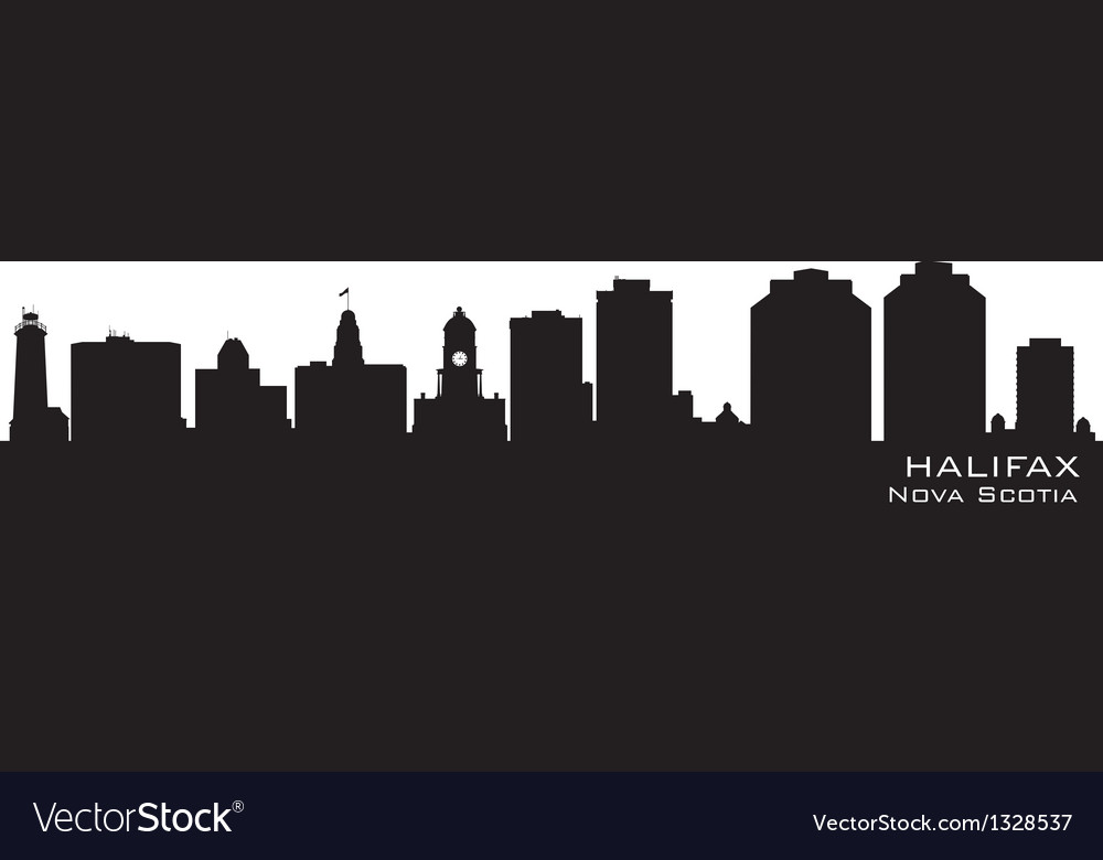 Halifax canada skyline detailed silhouette vector | Price: 1 Credit (USD $1)